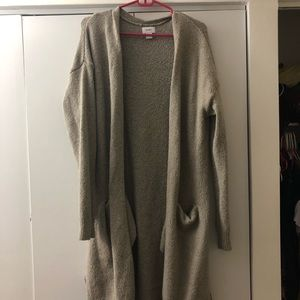 Tan long cozy cardigan